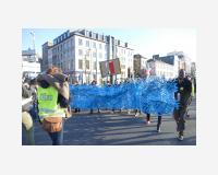 Littoral / manifestation « Human wave for solidarity and humanity » Bruxelles, 25/2/2018